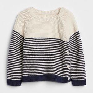 GAP Striped Shaker Knit Sweater